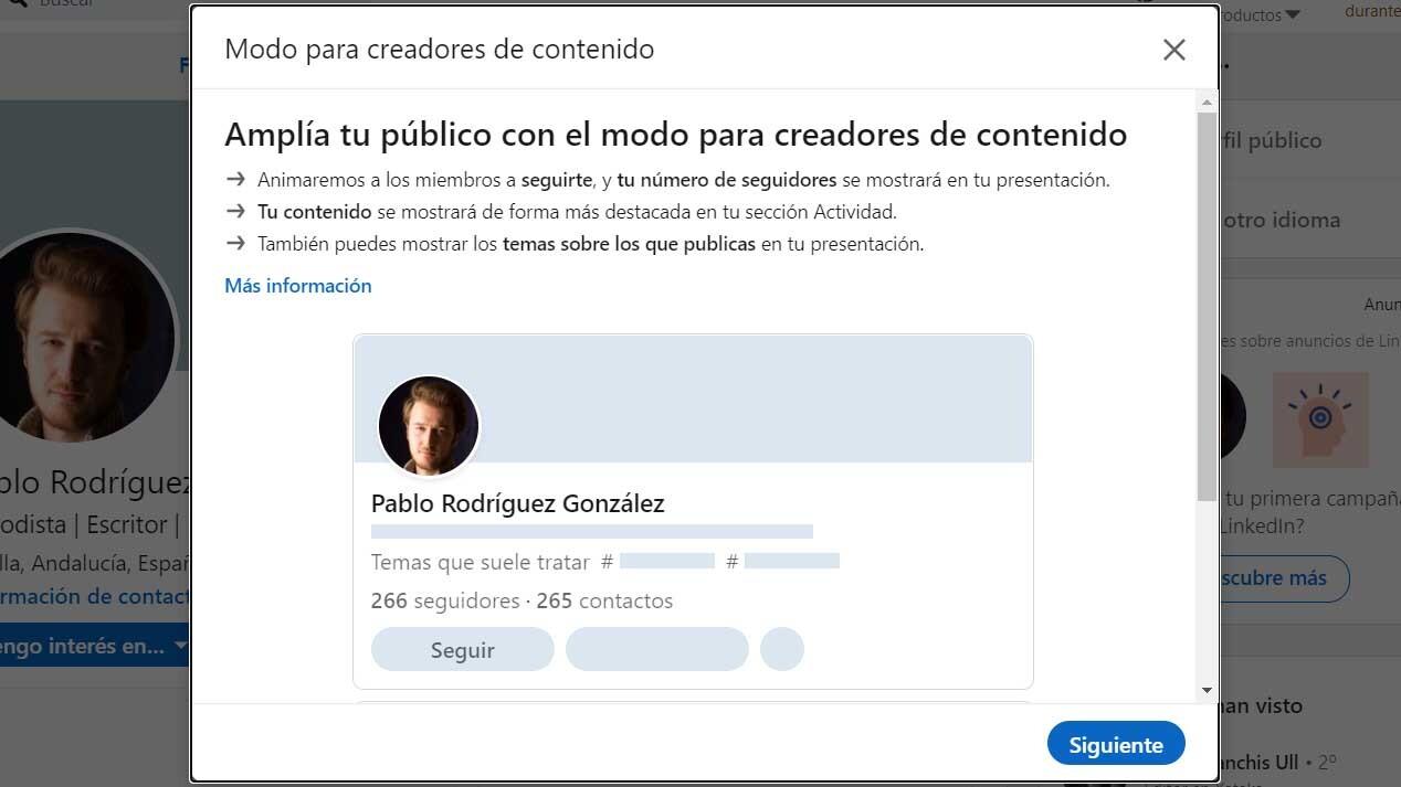 LinkedIn-modo-creador-influencers-lima-Perú